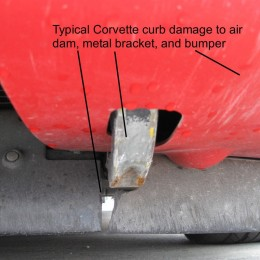 Corvette Curb Damage