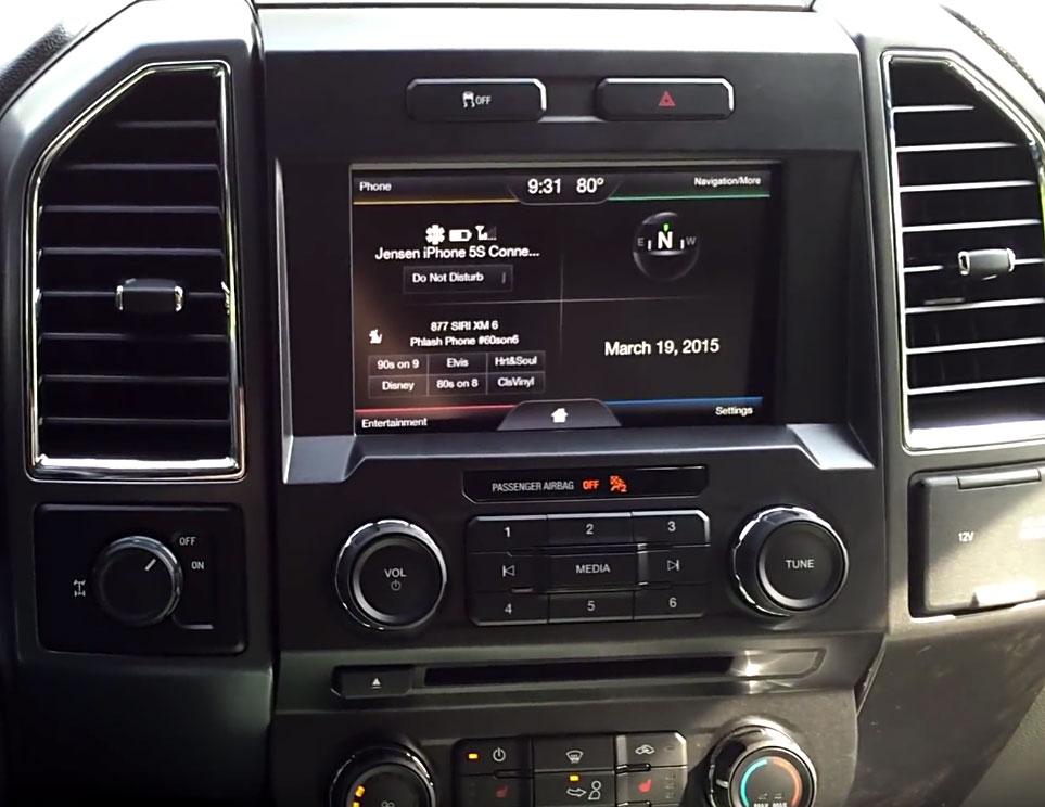 integrated ford f 150 navigation system. Black Bedroom Furniture Sets. Home Design Ideas