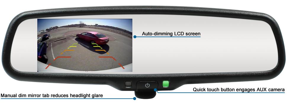 Manual Dim Mirror Monitor W 4 3 Display Adc Mobile