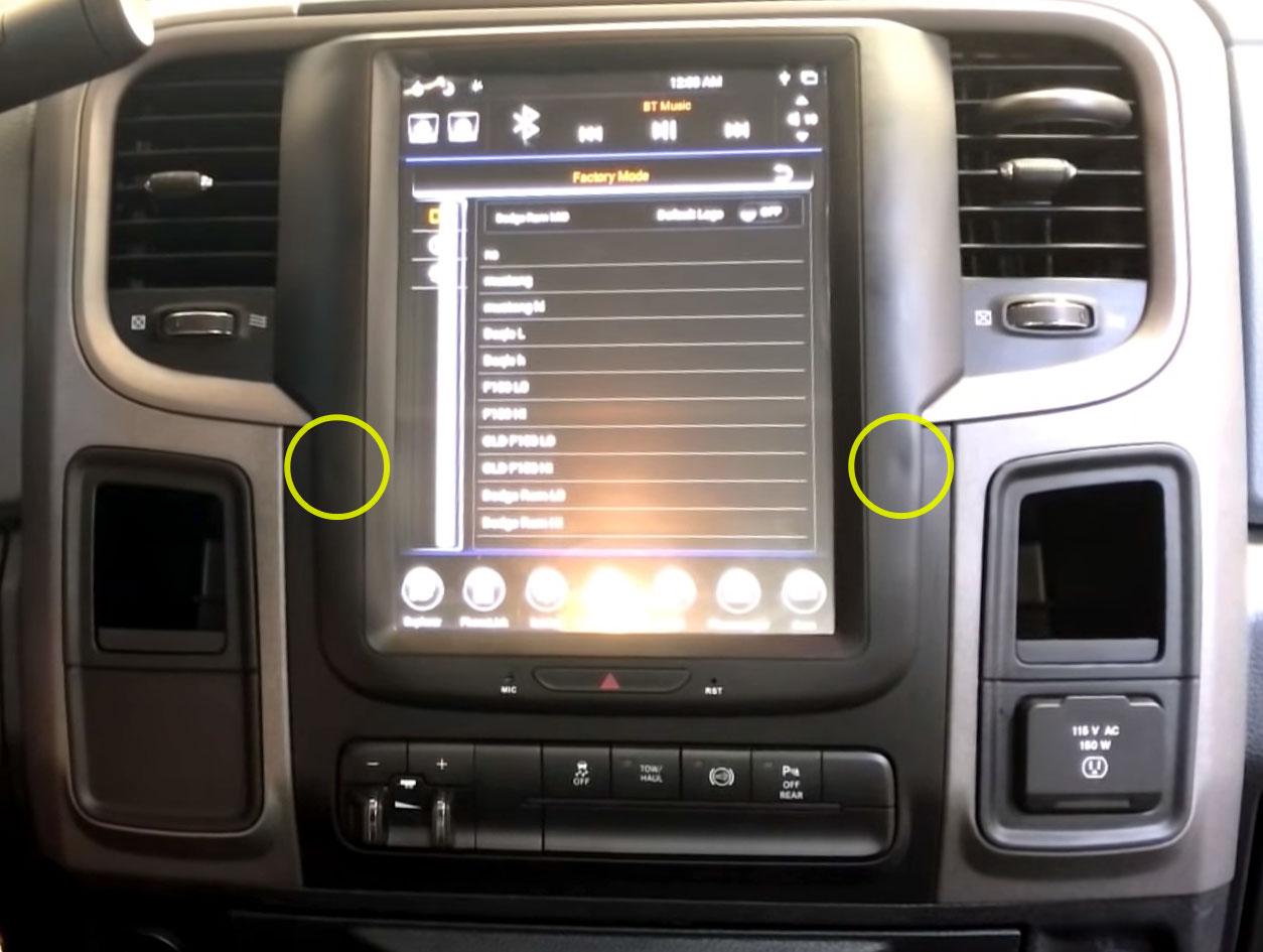 """GEN II """"T"""" Style Radio for 2014-18 RAM"""