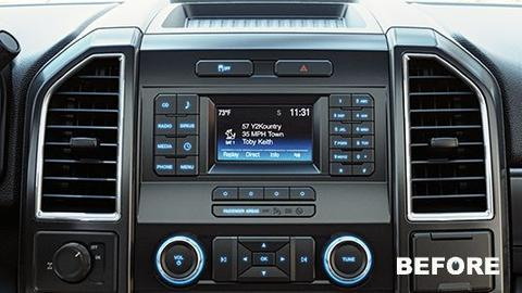 2017 Ford F 150 Interior >> 2015-2017 Ford F-150 4″ to 8″ Sync 3 Touchscreen Upgrade ...